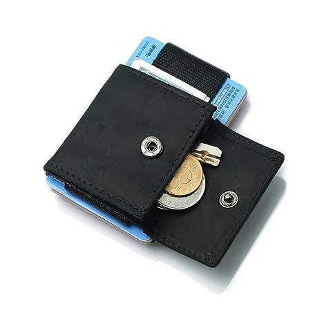Porta Carte di Credito Mini Wallet Pocket Mini Portafoglio uomo con  Portamonete Porta Tessere Slim Tascabile 6a50b43e397