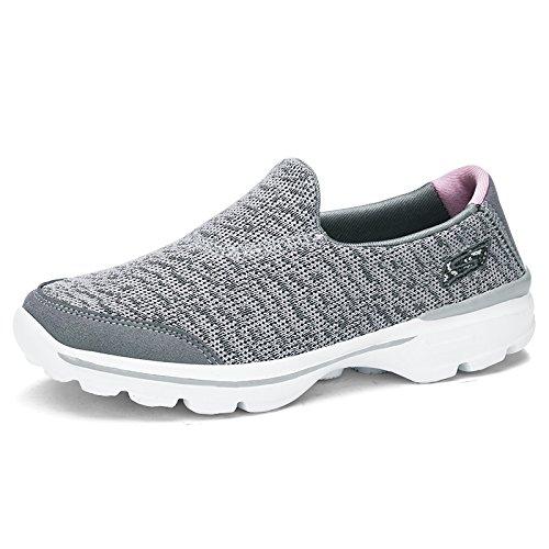 Zapatos Malla de Zapatos Suaves Antideslizantes Zapatos Transpirable A2 Zapatos Hasag Gray Deportivos de Zapatos Tela de de Planos Mujer PdqOO7Sw