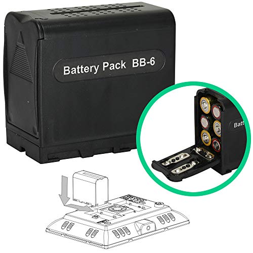 AA Battery Case Power Pack Adapter NP-F Series NP-F750 NP-F550 Replacement for Falconeyes LED Light Panels YN300II