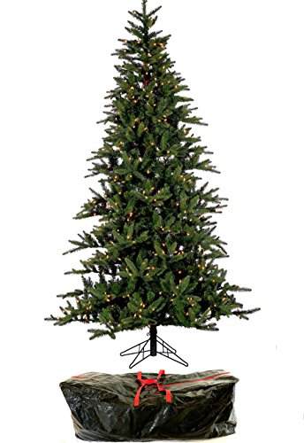 """7' 6"""" Natural Balsam Pine, Artificial Pre-lit Tree, Clear Lights Stay On if Bulb Burns Out, Natural Looking with Real-Like Color, Top Designer Choice For Decorating, Includes Storage Bag"""