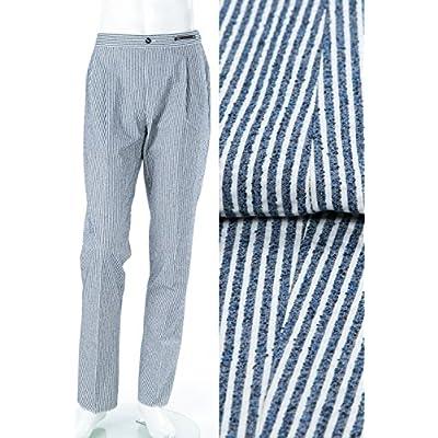 (PT01) ピーティーゼロウーノ パンツ スラックス ホワイト×ネイビー メンズ (COHSW5Z SD18) 【並行輸入品】