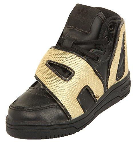 adidas Jeremy Scott Kids Black/Gold JS Letter Gold I Black/Gold M18991, - Scott Gold Jeremy