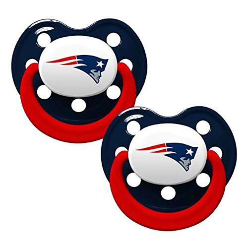 [Baby Fanatic Pacifiers, New England Patriots, 2 Count] (Baby Fanatic Pacifier)