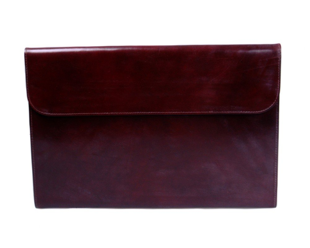 SAGEBROWN Brown Bridle Envelope Folder