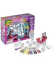 CRAYOLA 74-7321-E-000 Washimals Pet Super, kreatywny zestaw do majsterkowania kolorowania, zestaw prezentowy z zmywalnymi markerami, Multi, 27 sztuk (1 szt.)
