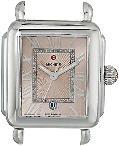 Michele Women's 'Deco Madison Head' Swiss Quartz Stainless Steel Casual Watch Head, Color:Silver-Toned (Model: MW06T00A0971)