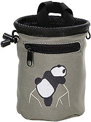 AMC(TM) Rock Climbing Panda Bear Design Chalk Bag w/ Drawstring Closure and Belt