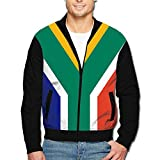 Maread South Africa Flag Men's Stylish Outdoor Hood Jackets Fashion Jackets Coat with Pockets