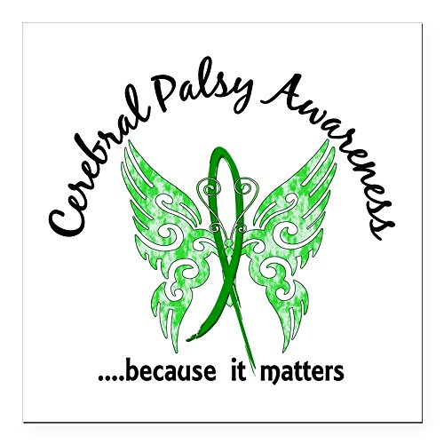 CafePress - Cerebral Palsy Butterfly Square Car Magnet 3