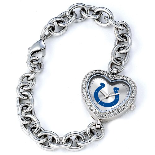 NFL Women's NFL-HEA-IND Heart Collection Indianapolis Colts - Colts Womens Steel Indianapolis Stainless