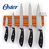 Oster 6 Pcs Cutlery Set Magnetic Knife Bar Stainless Steel Blades Kitchen