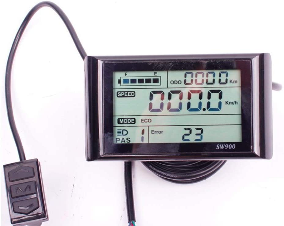 36V 48V Speed Digital SW900 LCD Display Panel For Electric Bicycle Controller