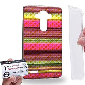 Case88 [LG G4] Gel TPU Carcasa/Funda & Tarjeta de garantía - Art Carpet And Tapestry Raspberry Art2015