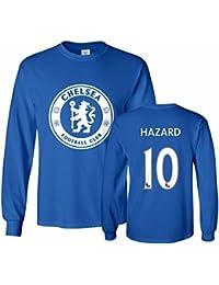 518872804 Chelsea Shirt Eden Hazard  10 Jersey Men s Long Sleeve T-shirt · Tcamp