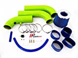 02 03 04 05 06 07 08 Dodge Ram 1500 3.7L V6/4.7L V8 Green Piping Cold Air Intake System Kit with Blue Filter