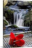 Gallery-Wrapped Canvas entitled Anthurium flower arrangement by Great BIG Canvas 40''x60''