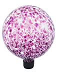 Russco III GD137135 Glass Gazing Ball, 10'', Purple Spots