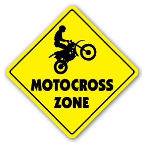 MOTOCROSS ZONE Sign dirt bike supercross cycle racing tricks track racer BMX