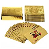 Pack of Gold Plated Poker Cards, Skat Cards with Quality Certificate - Pack of 54 Cards