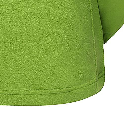 Stand de Sport Manteau de Tops POTTOA Up Ray Collier Molleton Vert paississement extrieur Blouse Femme Circulaire Button Femme en Femme Manches Tunique Longues Hiver Tops glissire la de l'automne aOY6wP5Yq