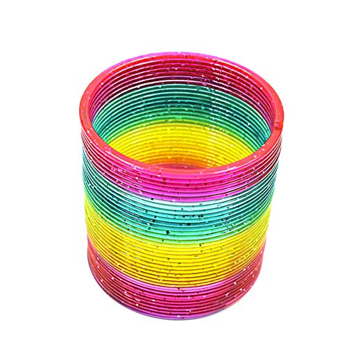 Seplegend Beautiful Plastic Slinky Rainbow Circle Magic Spring Toy Funny Children Kids Gift (#B)