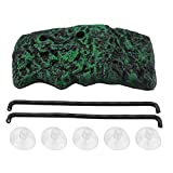 Turtle Platform, Automatic Water Turtle Basking Floating Island Rectangular Terrapin Pier with Suction Cup for Turtles Terrapins Brazilian Tortoises Semi Aquatic Animals(L)