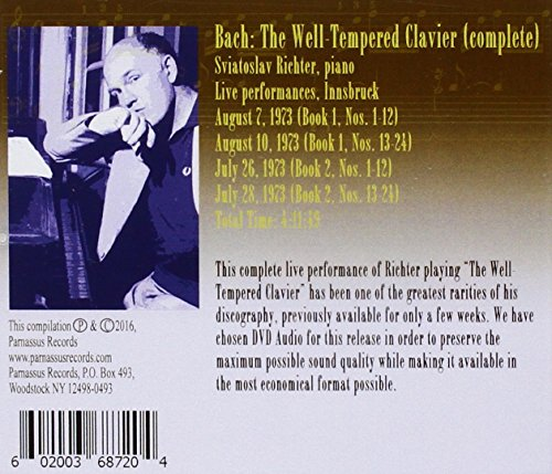 Bach: The Well-Tempered Clavier - Live in Innsbruck, July-August 1973 by Parnassus (Image #1)