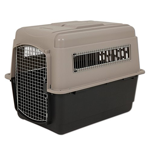Image of Petmate Ultra Vari Dog Kennel, Heavy-Duty, No Tool Assembly, 4 Sizes, Taupe/Black