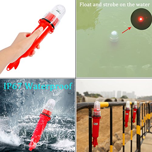 Botepon Boat Kayak Flash Lights Strobe Lights IP67 Waterproof for Navigation Lights, Marine Distress Lights, Emergency Lights, Fishing Net Marker Lights, Red and Green by Botepon (Image #6)
