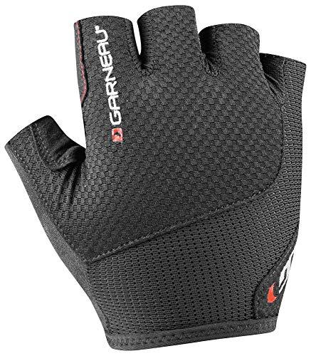 Louis Garneau Men's Nimbus Evo Breathable, Padded, Half Finger Bike Gloves, Black, Large