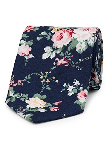 - Paisley of London, Boys navy neckties, Boys slim neckties, Floral pattern