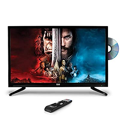 "Pyle 32"" 1080p LED TV, Multimedia Disc Player, Ultra HD TV, LED Hi Res Widescreen Monitor w/ HDMI Cable RCA Input, LED TV Monitor, Audio Streaming, Mac PC, Stereo Speakers, Wall Mount (PTVDLED32)"