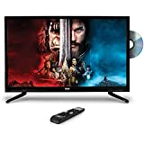 "Upgraded Premium 32"" DVD TV - 1080p Multimedia Disc Player, Ultra HD TV, LED Hi Res Widescreen Monitor w/ HDMI Cable RCA Input, LED TV Monitor, Audio Streaming, Mac PC, Stereo Speakers, Wall Mount"