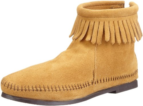 Minnetonka Womens Back-zipper Bootie Tan