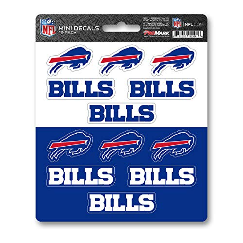 ProMark NFL Buffalo Bills DecalDecal Set Mini 12 Pack, Team Colors, One -