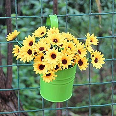 Maceta de metal para colgar plantas y plantas, para el hogar, patio, jardín, decoración del hogar, duradera violeta: Amazon.es: Hogar