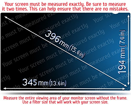 15.6 Inch Computer Privacy Screen Filter for Widescreen Laptop - Notebook - Anti-Glare - Anti-Scratch Protector Film for Data confidentiality - 16:9 Aspect Ratio. by VINTEZ (Image #1)