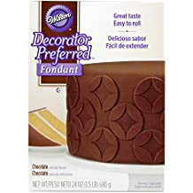 Wilton Decorator Preferred Chocolate Fondant, 24 oz. Fondant Icing