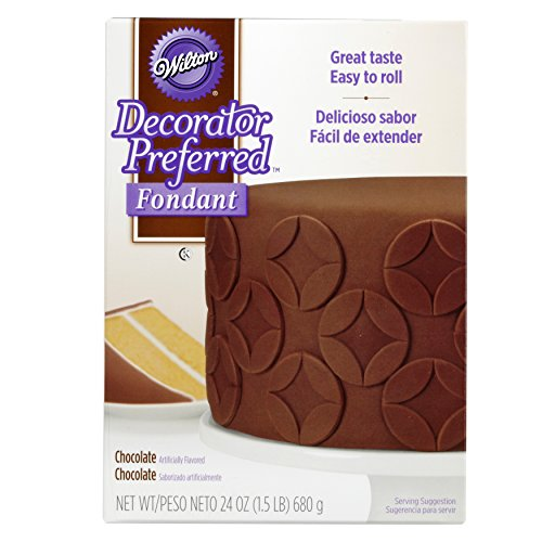 (Wilton Decorator Preferred Chocolate Fondant, 24 oz. Fondant Icing)