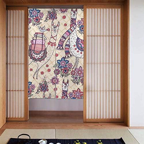 日本の花柄 間仕切り ドアカーテン スクリーン のれん おしゃれ 玄関 寝室 酒場 布 仕切りカーテン 取付簡単 出入り楽々 カーテン シャワーカーテン シェーディング 断熱 人気 装飾 和風 北欧風 86X143CM