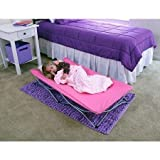 Baby : Lightweight and Portable Sturdy All-Steel Frame, Portable Folding Travel Bed with Travel Bag, Pink