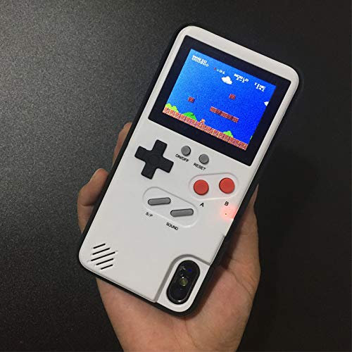 Full Color Display Game case Playable for iPhone X - 6/6s - 7-8 Plus Game boy Tetris Game Cover for Phone