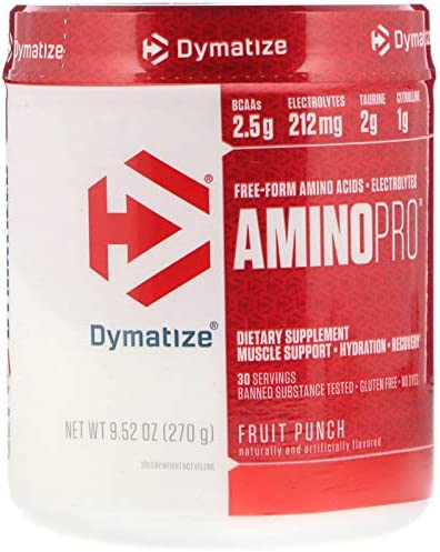 Dymatize AminoPro Endurance Amplifier Powder, Reinforced with Electrolytes Amino Acids, Fruit Punch, 9.52 Ounce