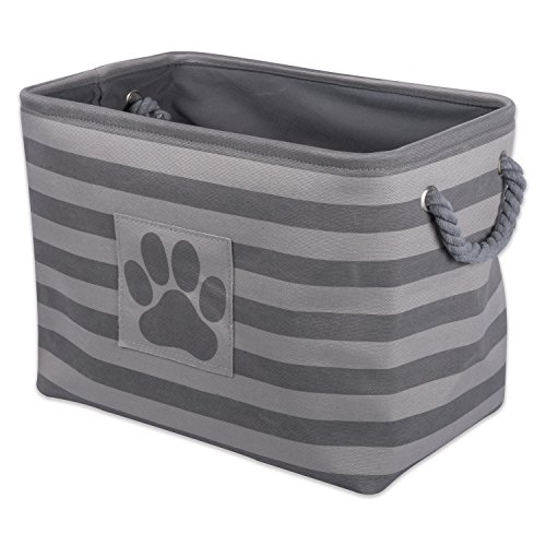 DII Bone Dry Large Rectangle Pet Toy and Accessory Storage Bin, 18x12x15