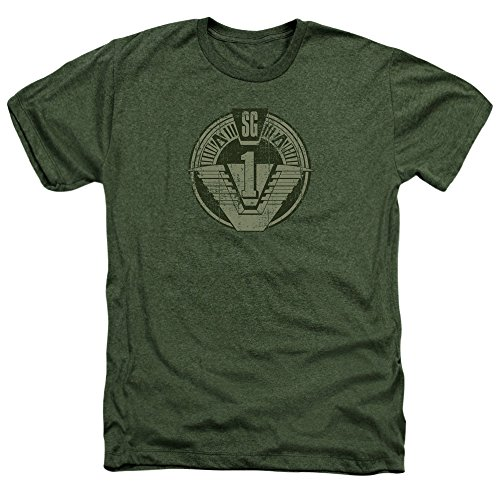 Stargate SG-1 Sci-Fi Television Series SG1 Distressed Adult Heather T-Shirt Tee