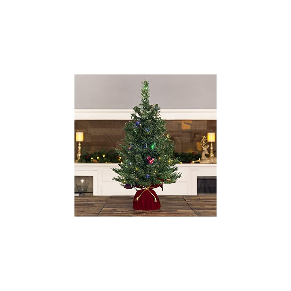 Best-Choice-Products-26in-Multifunctional-Cordless-Pre-Lit-Tabletop-Artificial-Fir-Christmas-Tree-w-35-Warm-White-and-Multicolor-LED-Lights-5-Light-Functions-Timer-Battery-Box-Green