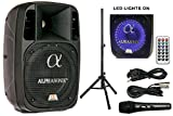 "Alphasonik 8"" Powered 1200W PRO DJ Amplified Loud Speaker Bluetooth USB SD Card"