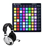 Novation Launchpad S MKII MIDI Controller for Ableton Live with Samson HP10 Headphones