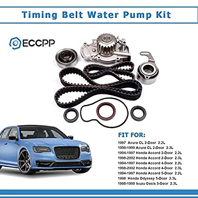 Timing Belt Water Pump Kit ECCPP TBK244 for Honda Accord Odyssey Acura CL Isuzu Oasis 2.2L 2.3L L4 SOHC 16 Valves Engine F22B1 F23A1 F23A4 F23A5 F23A7 (timing belt kit with water pump): Automotive