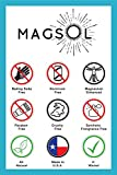 MAGSOL Magnesium Deodorant for Women and Men - 100% Natural Deodorant - Clean Label Only 4 Ingredients - Perfect for Ultra Sensitive Skin - Large 3.2 oz Lasts over 4 Months